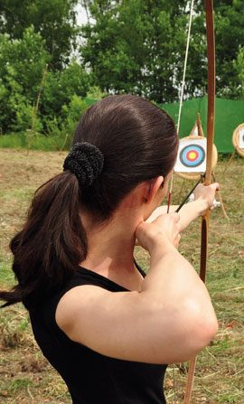 Archery event at Hatton Estate