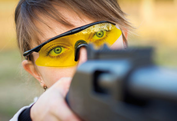 Air rifle target shooting event